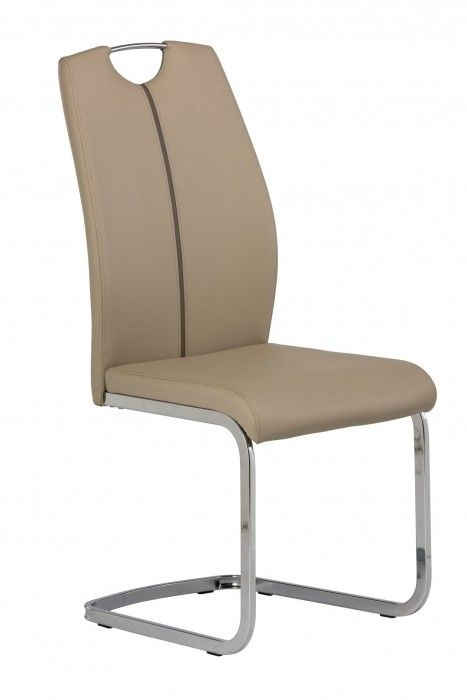 Aggie Grey Faux Leather Dining Chair