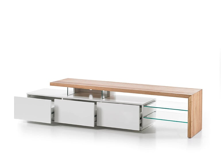 Alistair 204cm White And Oak TV Stand