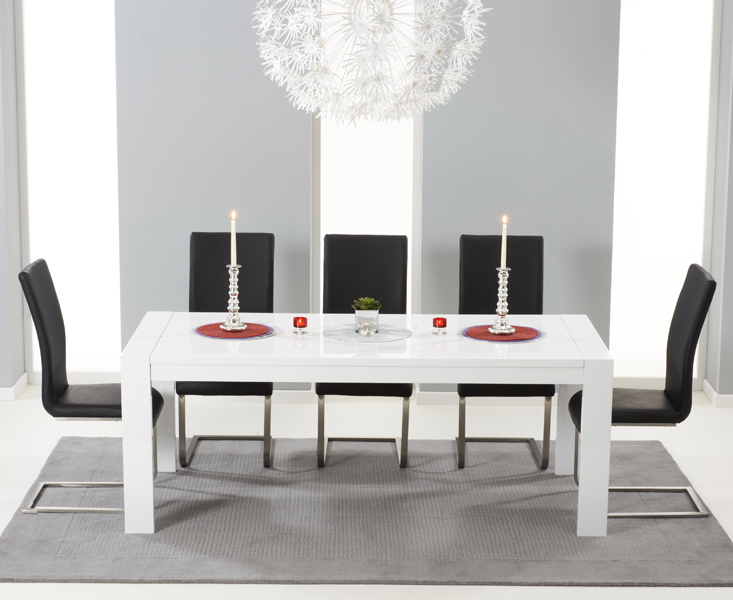 Asper Extra Large Extending Gloss Dining Table Briggs And Jones