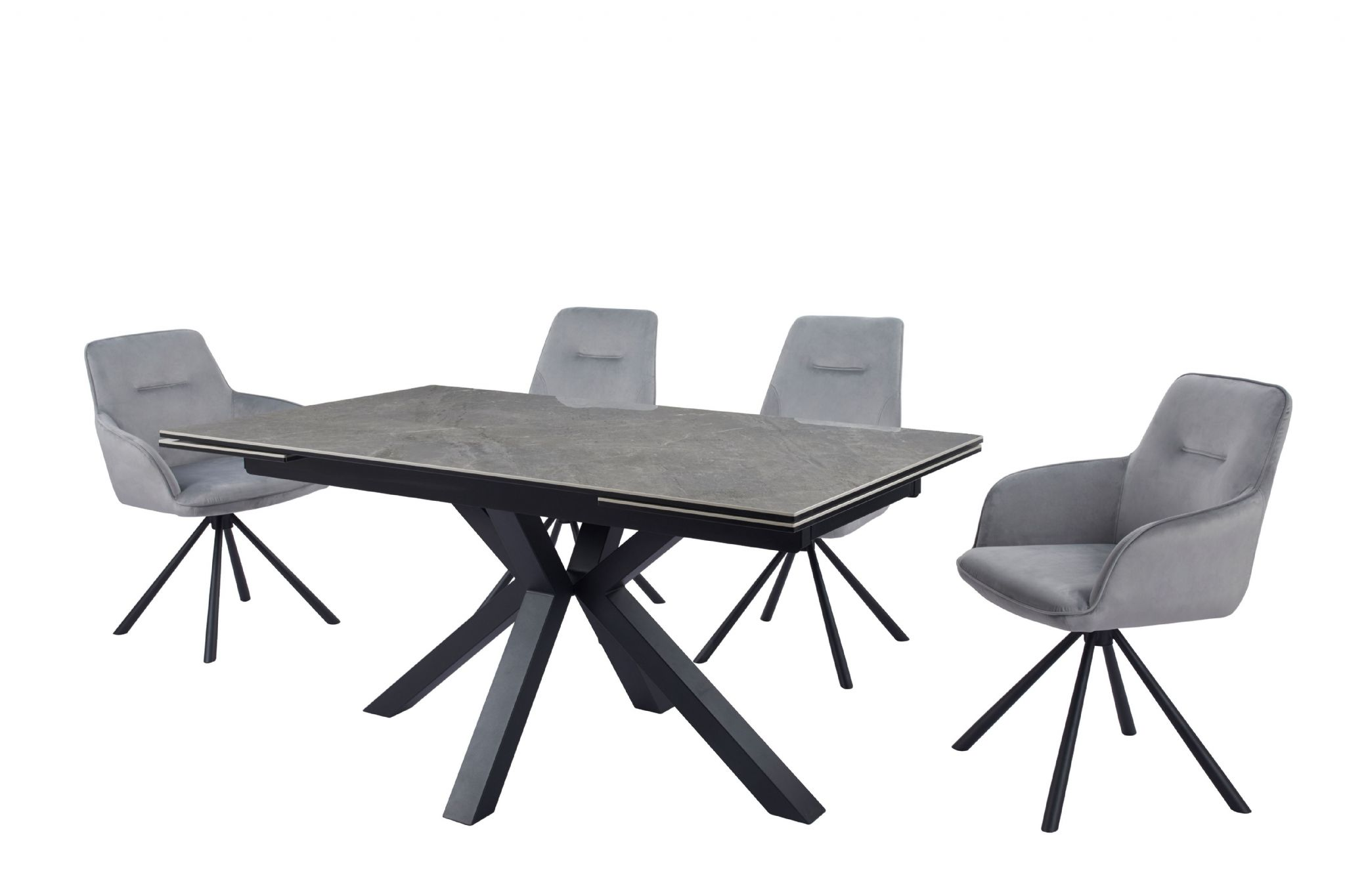 Durable Astari Extending Ceramic Dining Table With Marble Effect