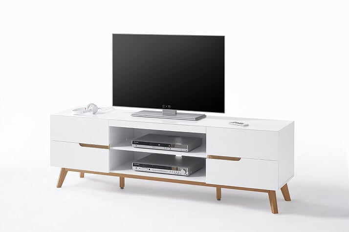 Cheryl 169cm White And Oak TV Stand