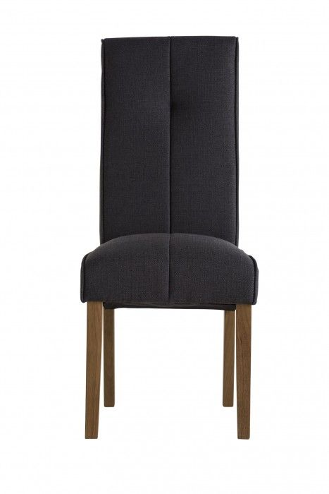 Demi Black Fabric Dining Chair