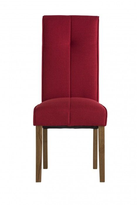 Demi Red Fabric Dining Chair
