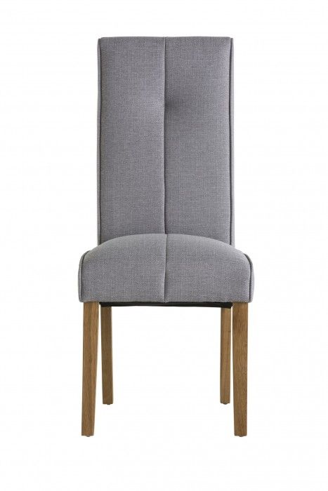 Demi Silver Grey Fabric Dining Chair