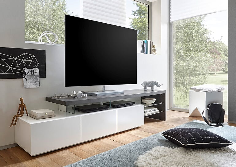 Dunlop 204cm White And Concrete TV Stand