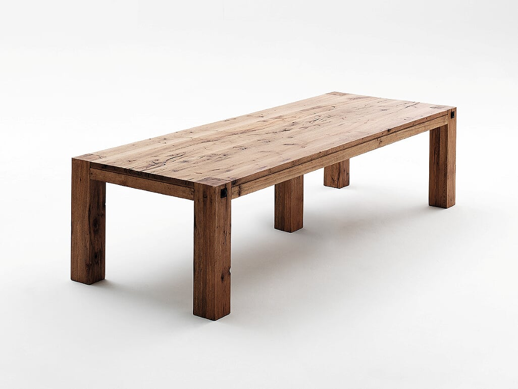 Relaxed Design Egor Solid Oak Wood Extra Wide Dining Table