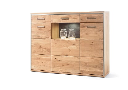 Esperee 154cm 3 Door 2 Drawer Tall Sideboard