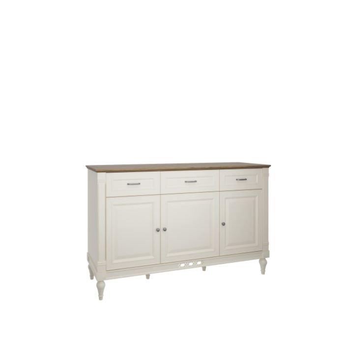 Florence 162cm Vanilla Cream And Oak Sideboard