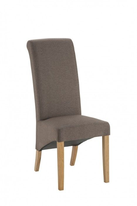 Hampshire Brown Fabric Chair With Oak Legs