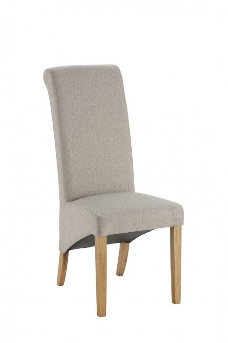 Hampshire Natural Fabric Chair With Oak Legs