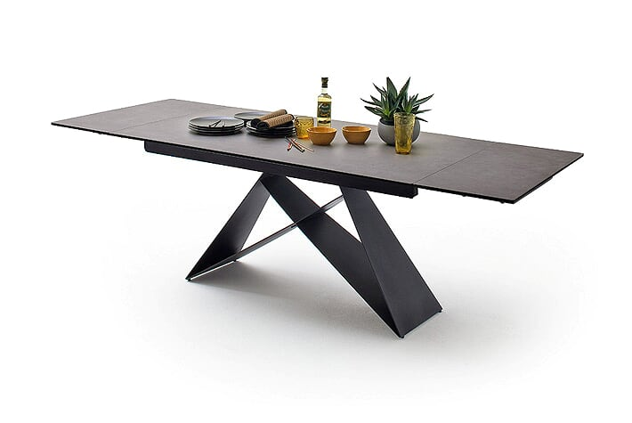 Kadim 160cm-240cm  Ceramic Extending Anthracite Grey Extending Dining Table