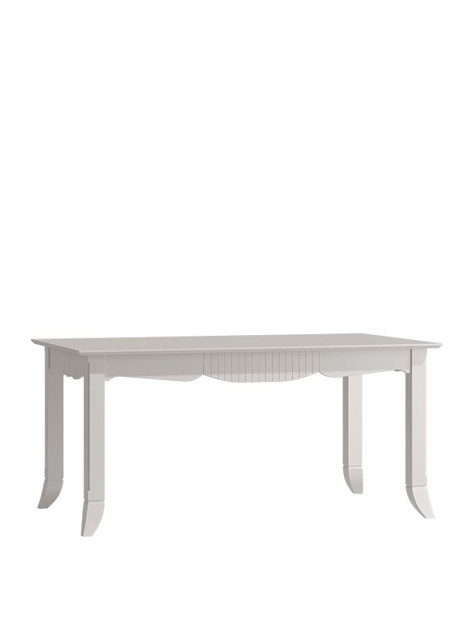 Lilliana 160cm-210cm Pretty White Extending Dining Table