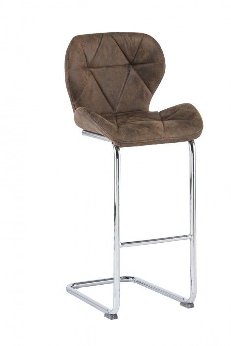 Lindon Antique Brown Fabric Barstool