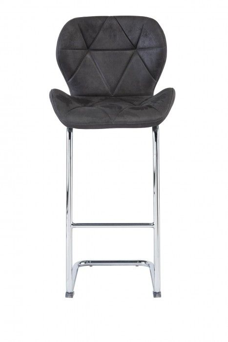 Lindon Antique Grey Fabric Barstool
