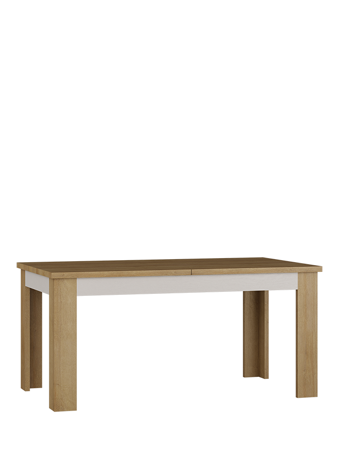Lionell 160-200cm Riviera Oak And White Gloss Extending Dining Table