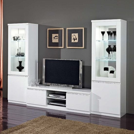 Lacquered Finish Lynette Tv Stand, Furniture Sets For Living Room
