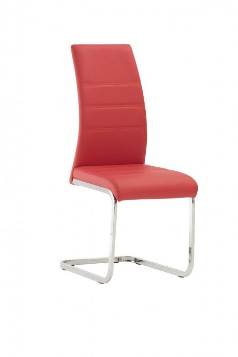 Malibu Red Faux Leather Dining Chair