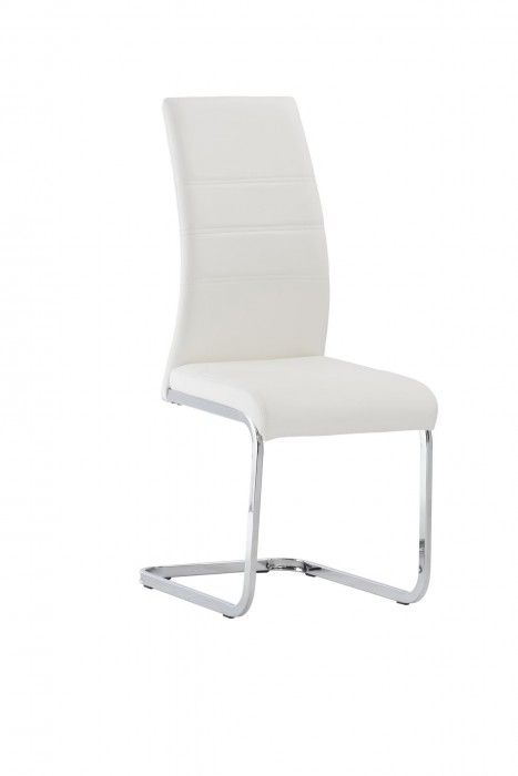Malibu White Faux Leather Dining Chair