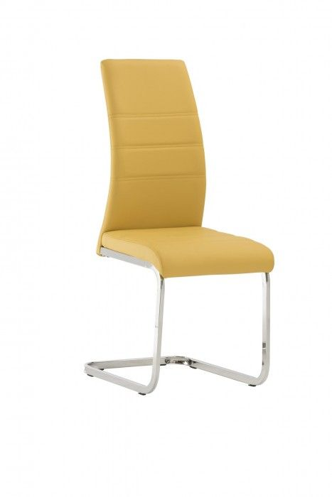 Malibu Yellow Faux Leather Dining Chair