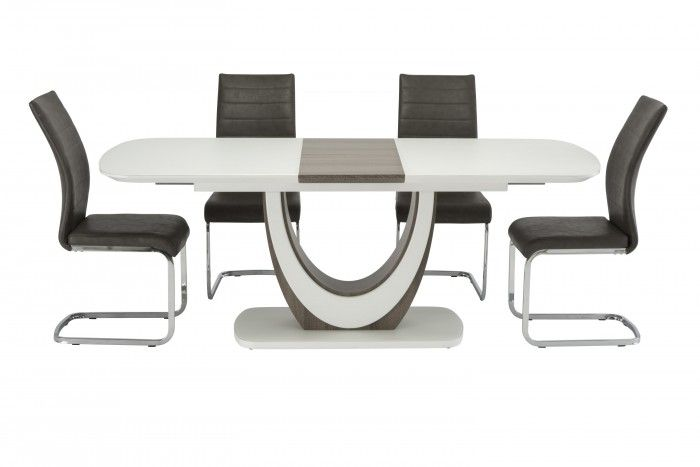 Maria 160cm White And Oak Extending Dining Table