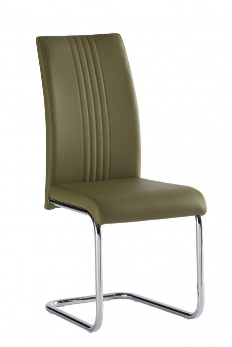 Mona Olive Green Faux Leather Dining Chair