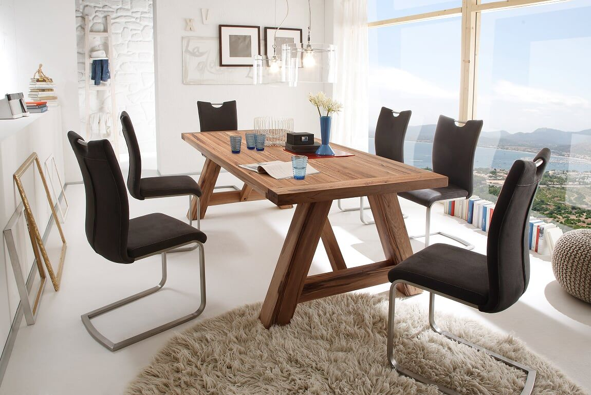 Montreal 260cm Solid Oak Wooden Dining Table 100cm Wide