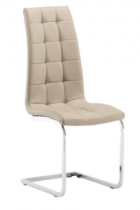 Morely Stone Beige Faux Leather Dining Chair