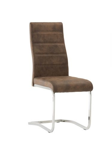 Napoli Vintage Brown Fabric Dining Chair