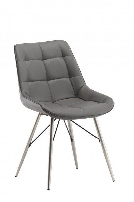 premium selection fa5c2 ebc72 Norman Grey Leather Dining Chair
