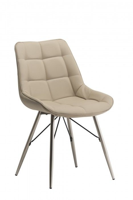 Norman Stone / Beige Leather Dining Chair