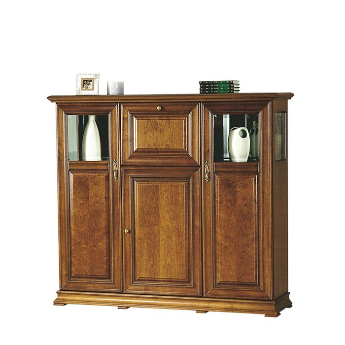 Owen 169cm Posh Toffee Brown 3 Door Sideboard With Bar