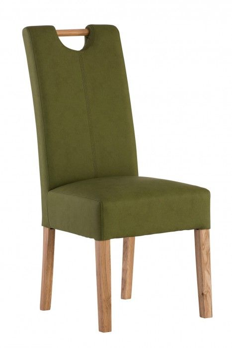 Peggy Sage Green Leather Dining Chair