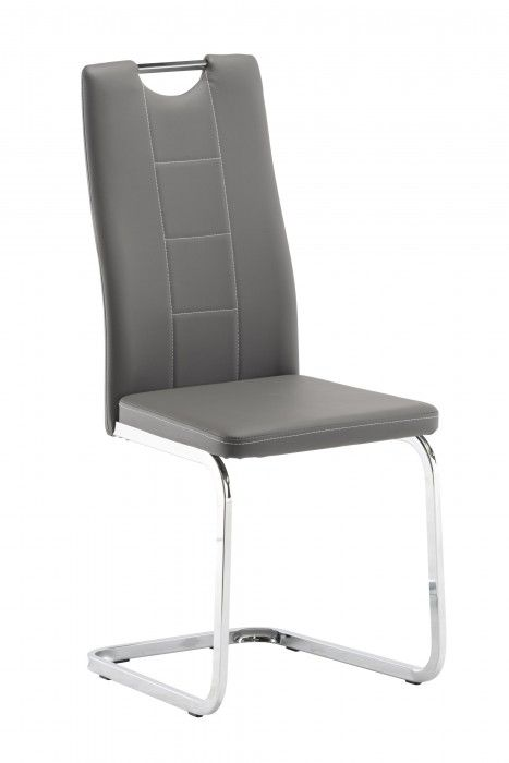 Plaza Grey Faux Leather Dining Chair