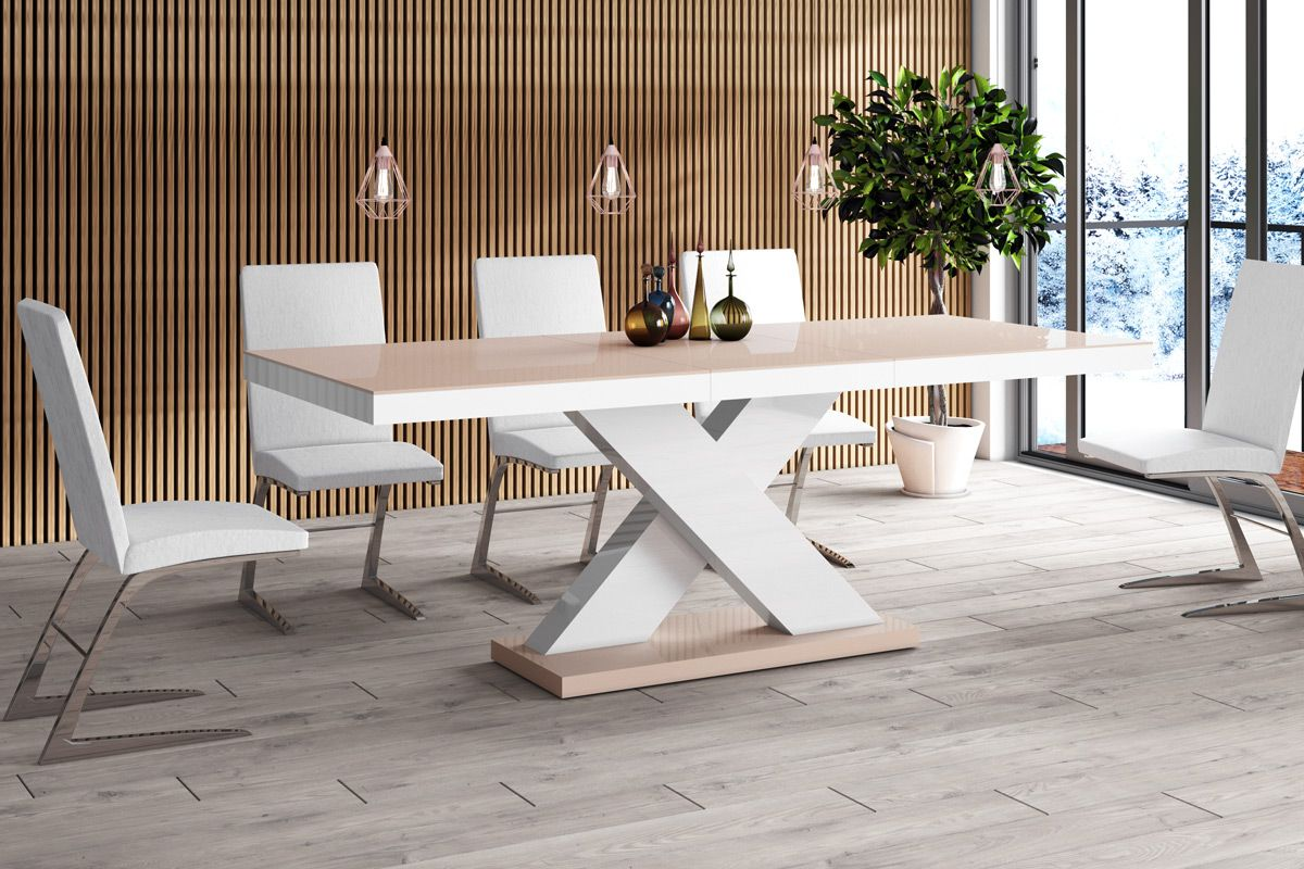 Stelsa 8 Seater Extendable Dining Table With Cappuccino Top