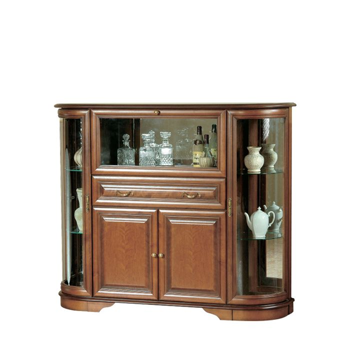 Zander 160cm Dark Toffee Brown Home Bar