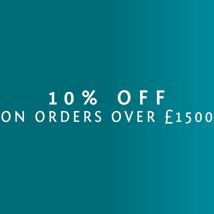 10% Off All Orders Over £1500