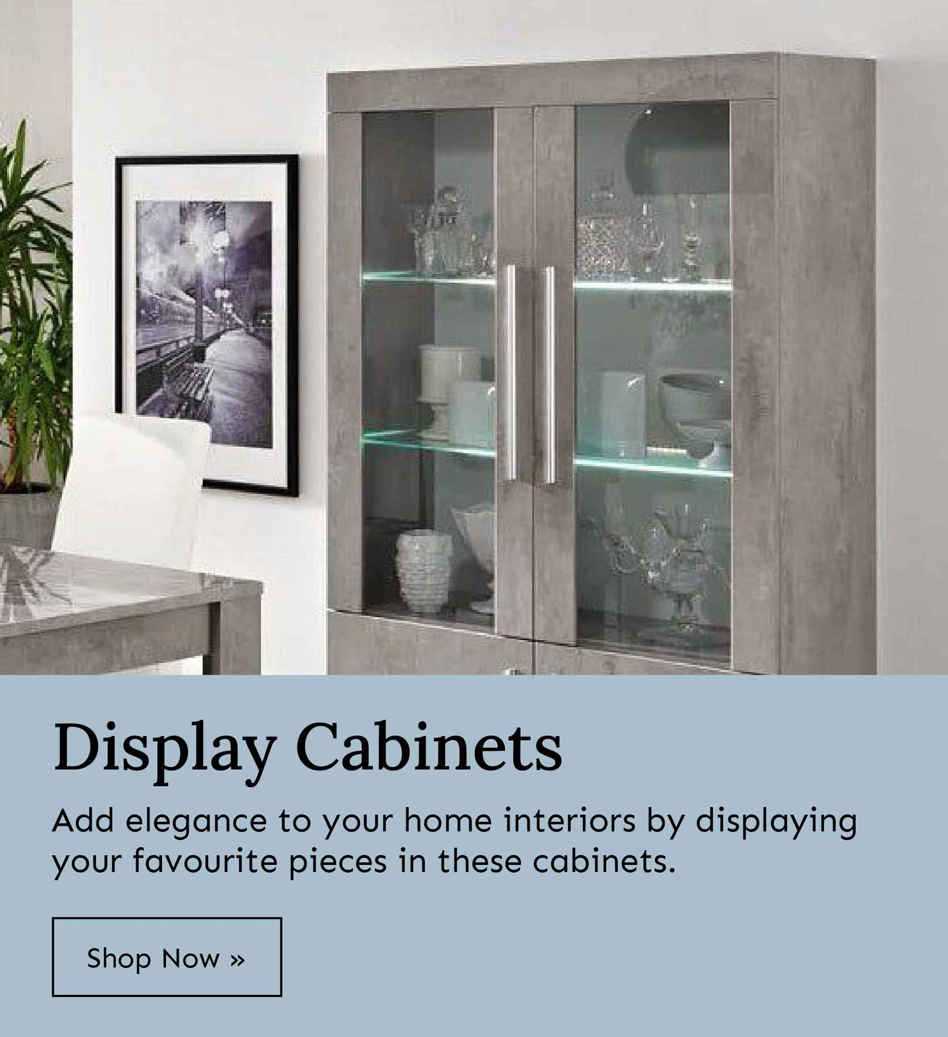 Shop display cabinets